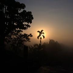Sunrise near Borobudur