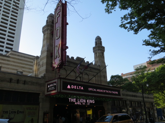 Lion King at The Fox Theatre in Atlanta