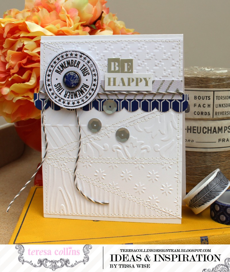 TERESA COLLINS DESIGNS Be Happy Card 1