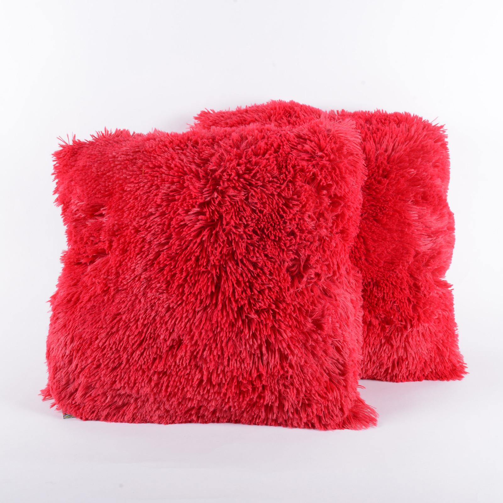 Big Comfortable Throw Pillows : Very Soft Comfy Plush Long Faux Fur 18