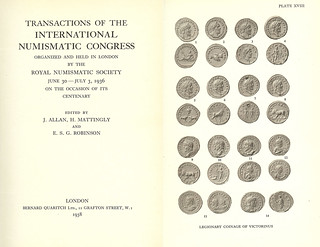 1936 Transactions of the International Numismatic Congress