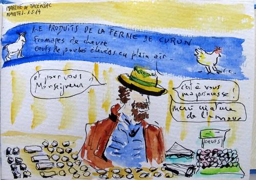 """""""Créature de l´amour! ou le vendeur de fromage. Nantes (France)"""
