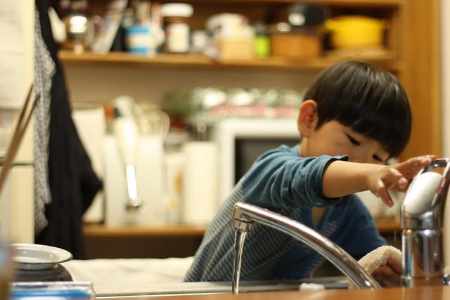 洗い物のお手伝い