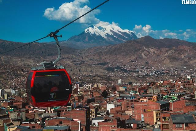 """Mi Teleférico"" - Illimani Mount - La Paz - Bolivia"