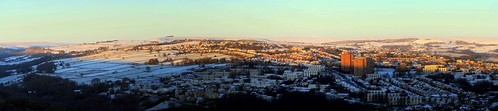 autostitch snow cold skyline sunrise dawn stitch pano sheffield wide hills s10 crookes bolehills jan2015