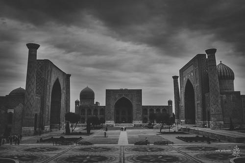 architecture clouds square ngc mosque uzbekistan samarkand registan samarqand uzbek 2013 erikpeterson d3s