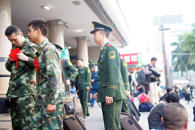 new army recruits, Nanning, Guangxi, China