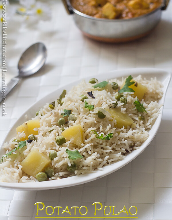 Potato peas pulav
