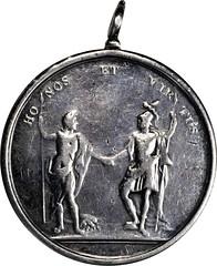 Lot 19 Honos et Virtus Medal reverse