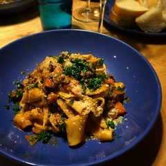 We made a nice pappardelle ragù tonight.