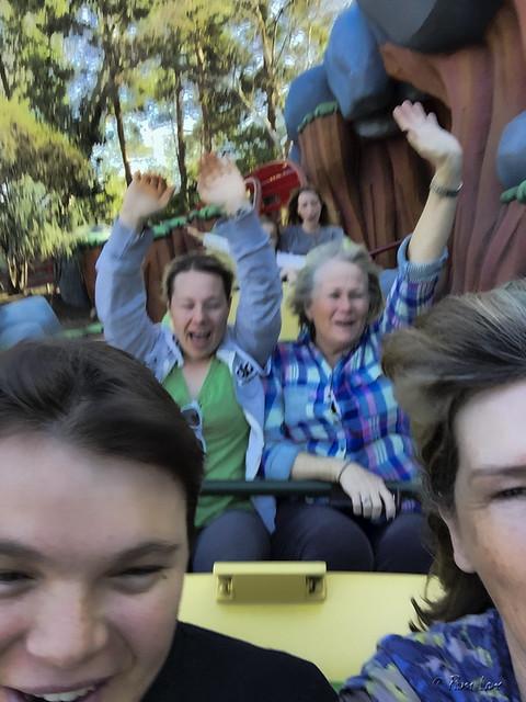 Disneyland roller coaster in Toontown