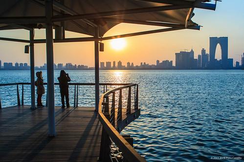 china sunset xina chn 金鸡湖 jinjilake 中国xina 江苏省jiangsu 苏州市suzhou