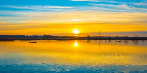 sunset nikon lakes reservoir dorset ferndown longham