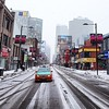 A quiet Saturday morning on Yonge St.
