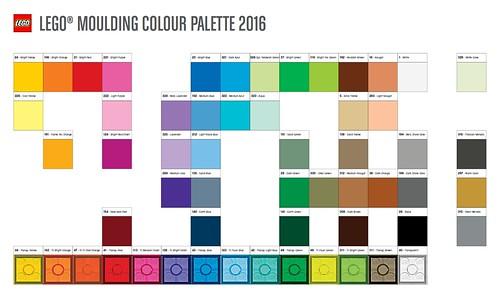 LEGO 2016 Color Palette