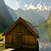 The little boathouse on Lake Obersee by echumachenco