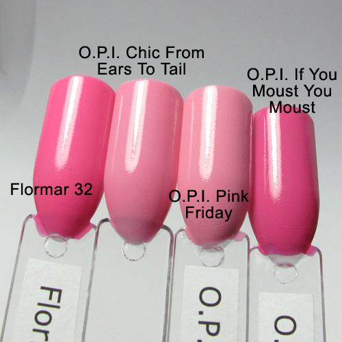 O.P.I. Chic From Ears To Tail comparison