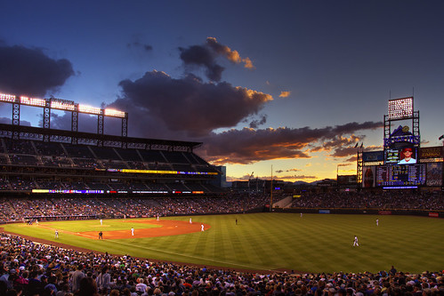 Sunset at Coors Field, Denver, Colorado