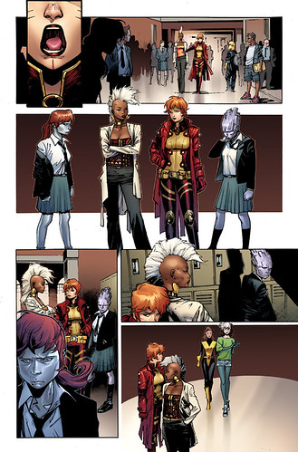a page from the x-men comic