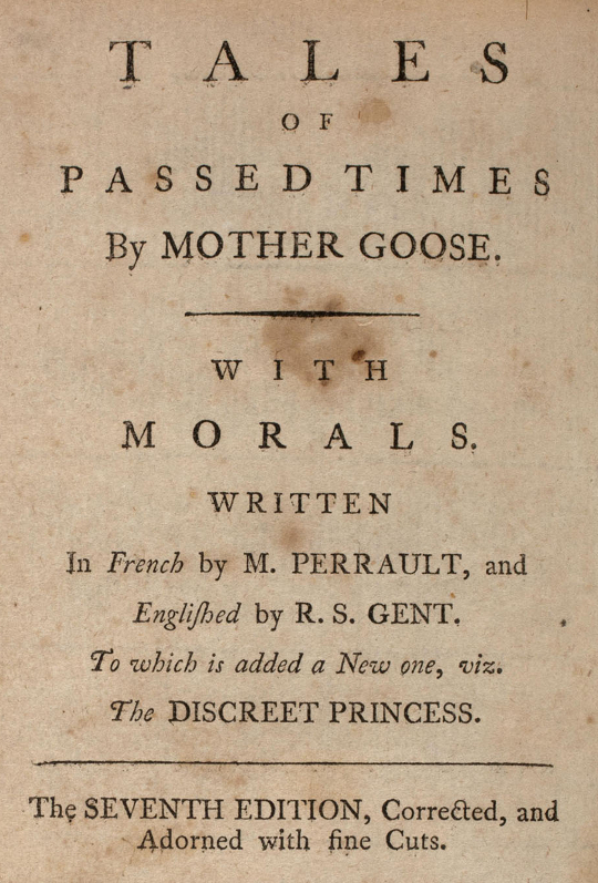 Mother Goose's French Birth (1697) and British Afterlife