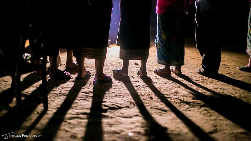 feet laos village