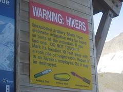 WARNING: HIKERS
