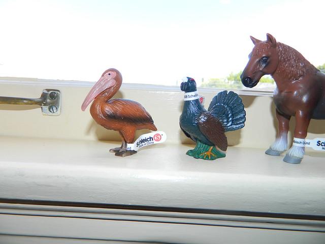Super Rare Schleich Lot including the Brown Pelican! 9130167804_7a99c97368_z