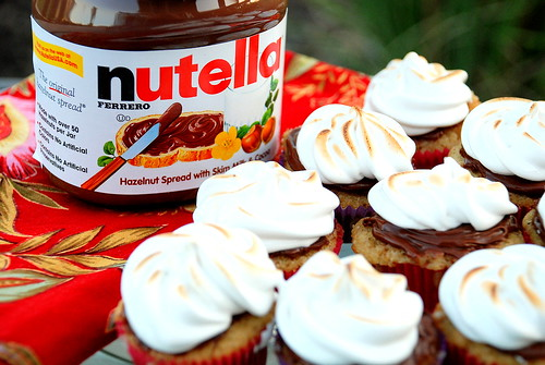 S'more Nutella Cupcakes