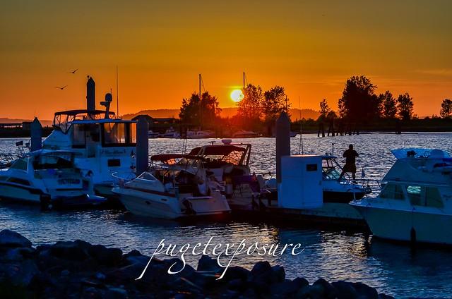 Everett Marina Sunset on the fourth