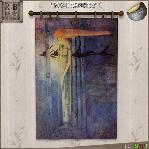 RnB Mesh Tapestry - Blue Melancholy