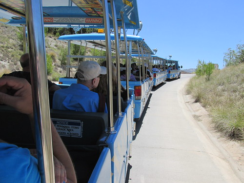 Riding aboard the Tram at the San Diego Zoo Safari Park.  San Pasqual Valley California. (Near Escondido)  June 2013. by Eddie from Chicago