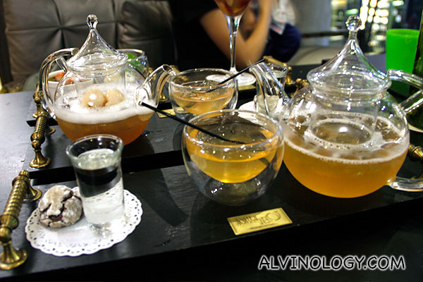 Lychee and Yuzu tea (cold) - S$11 each a pot