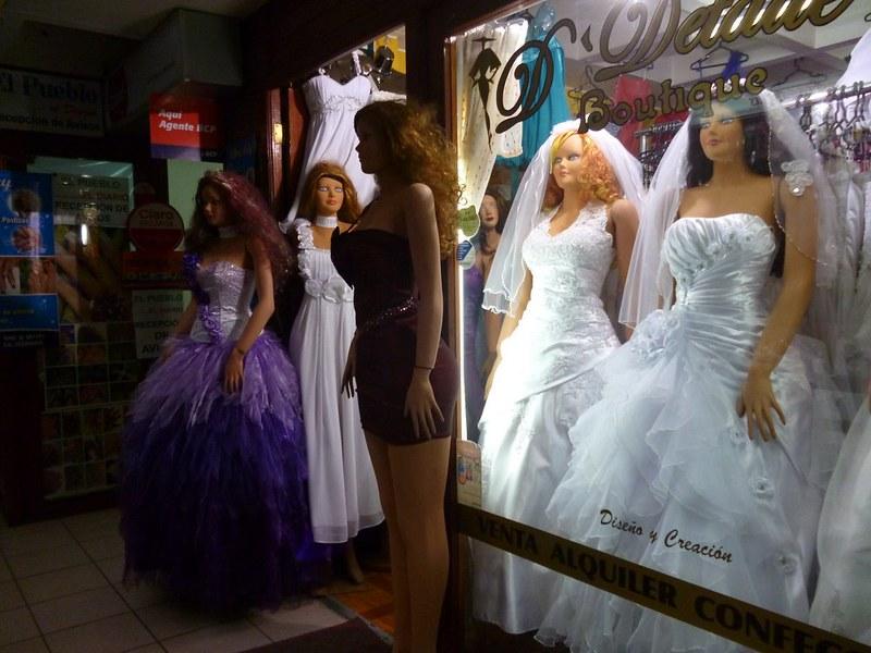 Slightly creepy manequins for wedding dresses