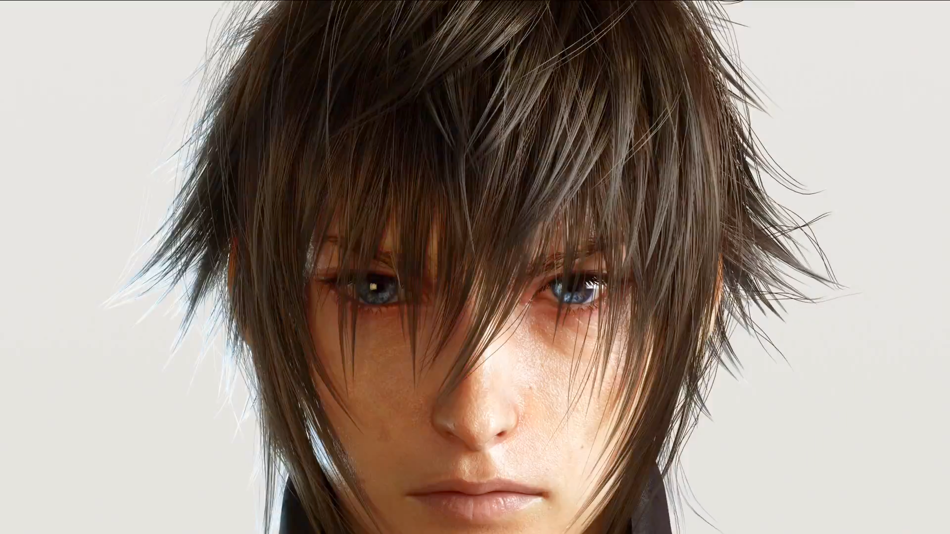 Noctis' Eyes are a gentle blue color when he is not using the powers bestowed upon him.