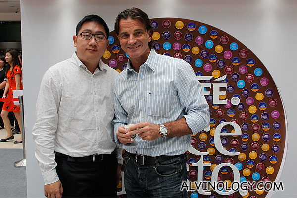 Me with Valerio Nannini, Managing Director, Nestle Singapore Ltd