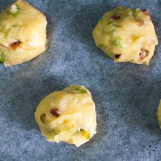 scoop mounds onto baking sheet