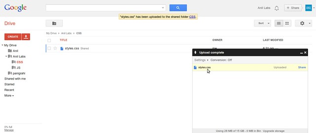 Google Drive as free CDN to your website by Anil Kumar Panigrahi - Screen 12