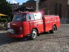 Fire truck on Dome Square