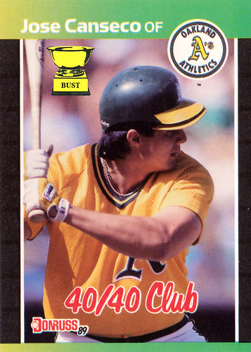 Baseball Card Bust Jose Canseco 1989 Donruss 4040 Club