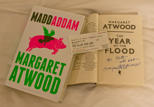 I met Margaret Atwood today