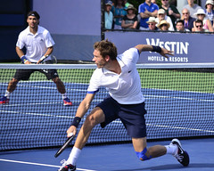 2013 US Open (Tennis) - Fabio Fognini and Nicolas Mahut
