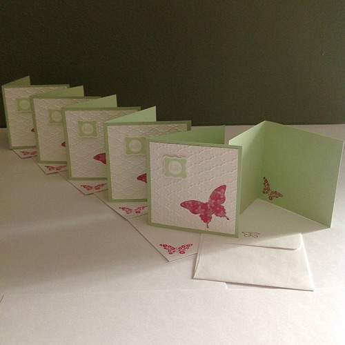 Second in a gift set for 6 pastors wives #stampinup #papillonpotpourri #butterfly #3x3cards