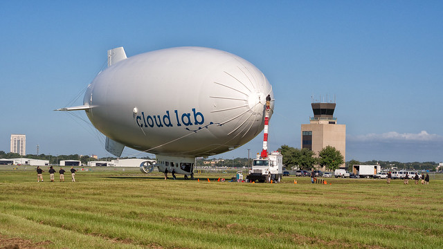 blimp launch, step 2
