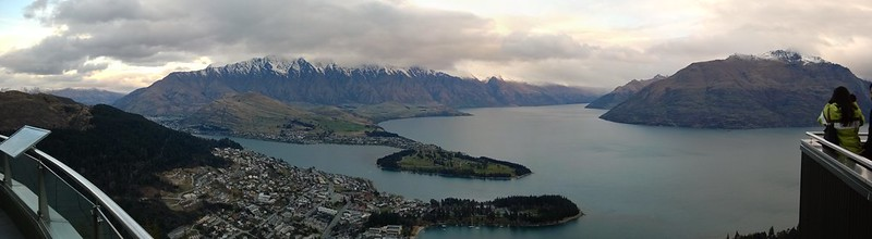Queenstown from above panorama