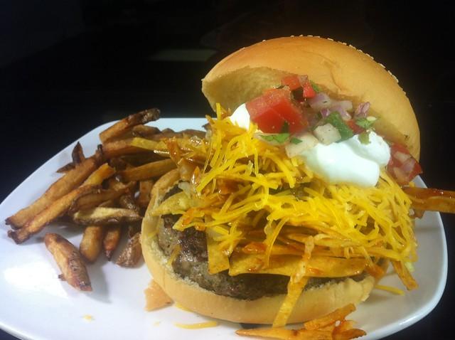 taco salad burger | Flickr - Photo Sharing!
