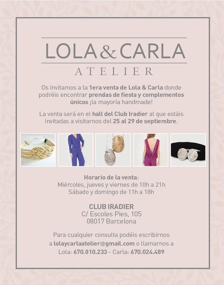 Lola&Carla Atelier Sorteo - Monicositas
