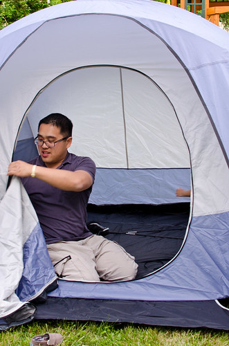 Backyard Camping in the Tent