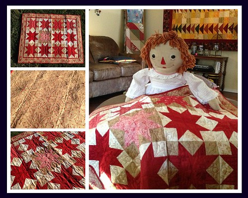 Midwinter Reds Doll Quilt