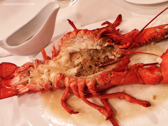 lobsterman Steamed lobster with sliced ginger.