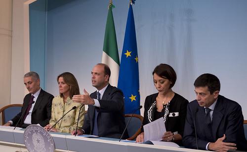 Resoconto attività ministeriale di Alfano, De Girolamo, Lorenzin, Lupi e Quagliariello